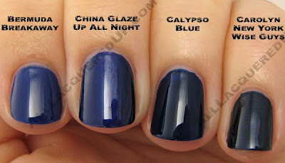 china glaze bermuda breakaway up all night calypso blue China Glaze Bahama Blues for Winter 2008