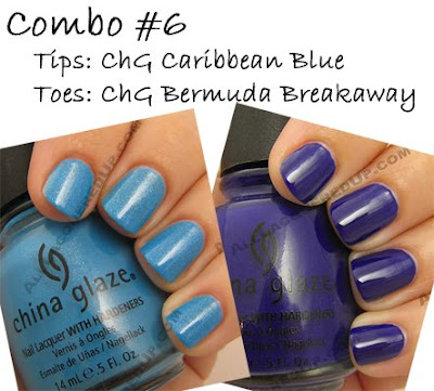 china glaze, caribbean blue, bermuda breakaway