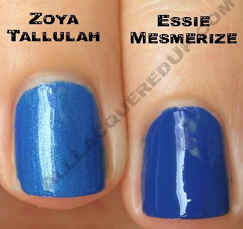 essie mesmerize zoya tallulah Swatch Request Saturday   Summer Blues &amp; Greens