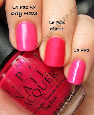 opi la paz itively hot matte comparison OPI Matte Collection Review, Swatches & Comparisons