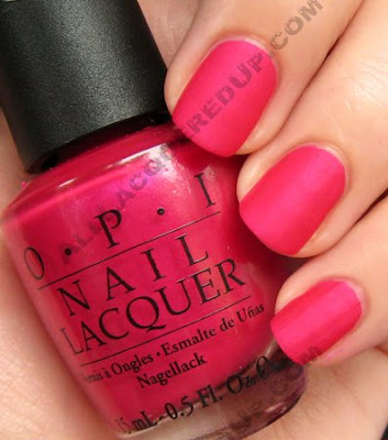 opi matte collection, matte nail polish, opi nail polish, nail polish, nail color, la paz-itively hot