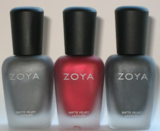 zoya matte velvet mattevelvet nail polish fall 2009 Zoya Matte Velvet Review and Swatches