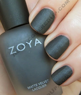 zoya dovima matte velvet mattevelvet nail polish wm Zoya Matte Velvet Review and Swatches