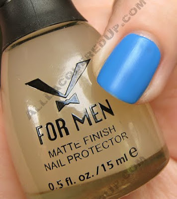 nubar v for men matte top coat opi no room for the blues Matte Top Coats   Lets Compare