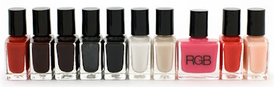 rgb cosmetics nail polish ten core collection RGB Cosmetics Pre Fall 09 Swatches and Review