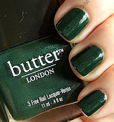 butter london british racing green fall winter 2009 butter LONDON Fall Winter 09 Swatches & Review
