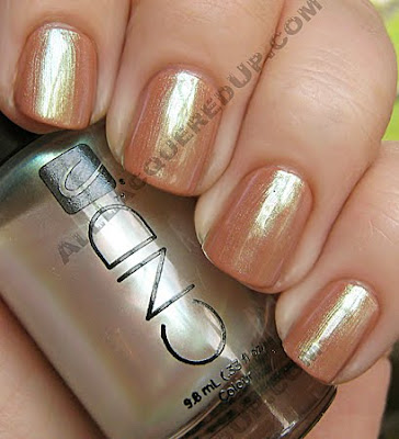 cnd desert suede colour gold pearl effect CND Monday Desert Suede Colour & Gold Pearl Effect