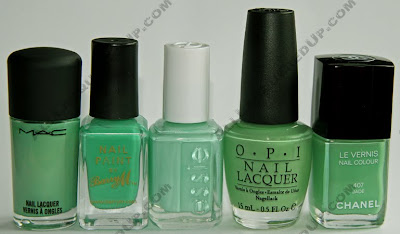 mint nail polish comparison essie Essie Winter 2009 Sweet Time of The Year Swatches & Review