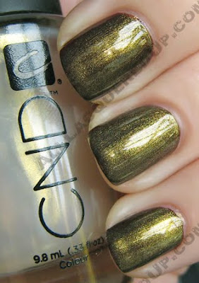 cnd gold shimmer raisin in the sun colour effects nail polish CND Monday   Raisin in the Sun Colour & Gold Shimmer Effect