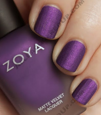 zoya savita matte velvet nail polish Zoya MatteVelvet Winter Collection Swatches &amp; Review