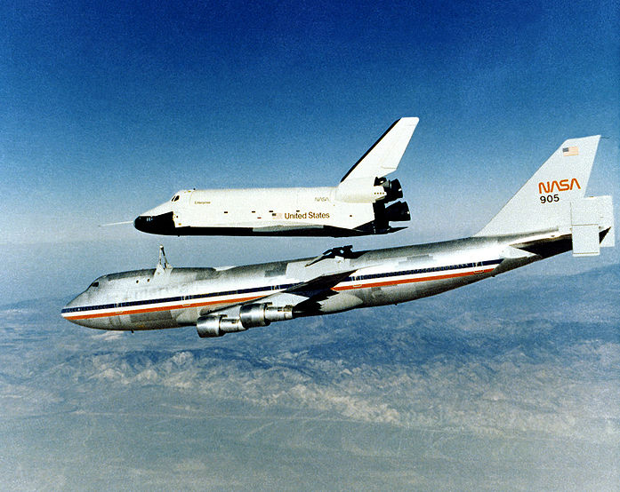 Tails through time the 747 shuttle carrier aircraft sca for Nasa air study