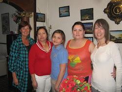 Meg, Lety, Evelyn, Esbeidi, Jette