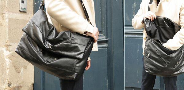 Besace pour Homme en cuir vintage noir - Messenger [MàR] UrbanBags
