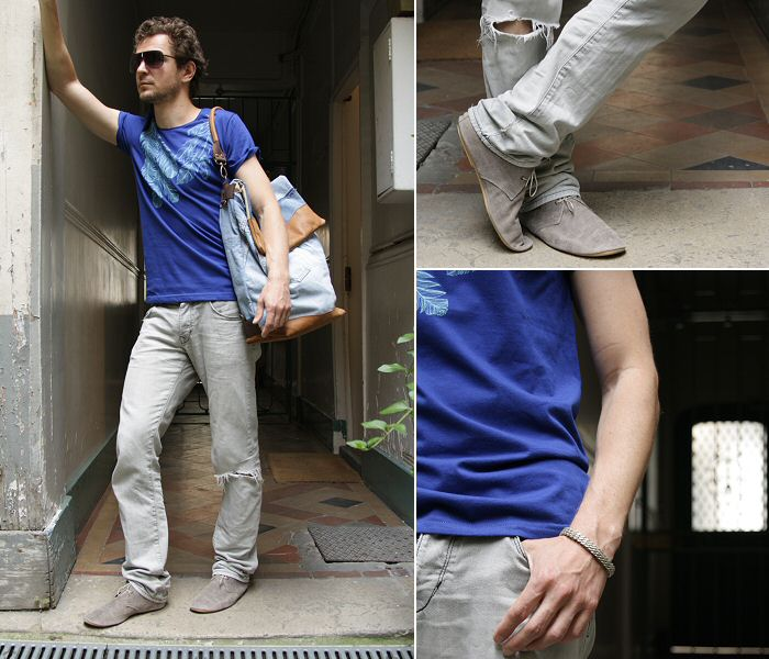 Anniel chaussures homme paris, tshirt wolf at my door, lunettes spitfire