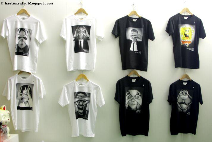 Tshirts t-shirts sérigraphiés chez Le Bouclard, Paris