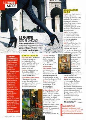 Estelle Yomeda et Hoses vu dans le Elle a Paris - Octobre 2009