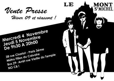 vente presse Mont Saint Michel rue Charlot Paris 3
