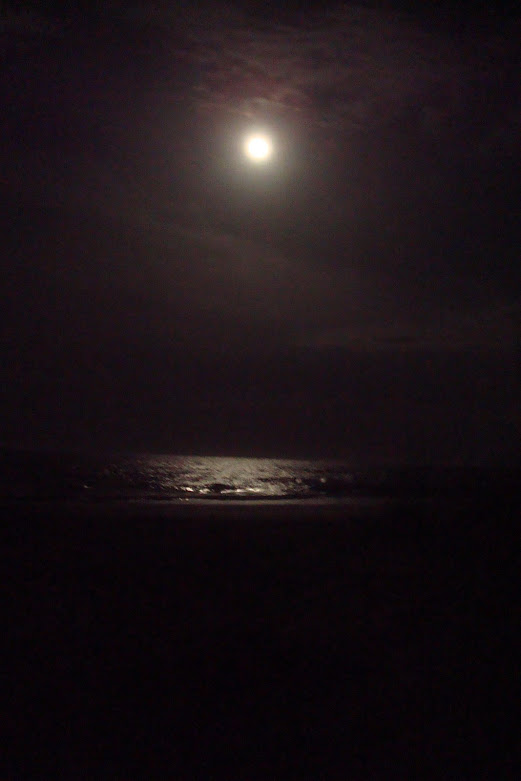 Moon over water...hours before the storm...