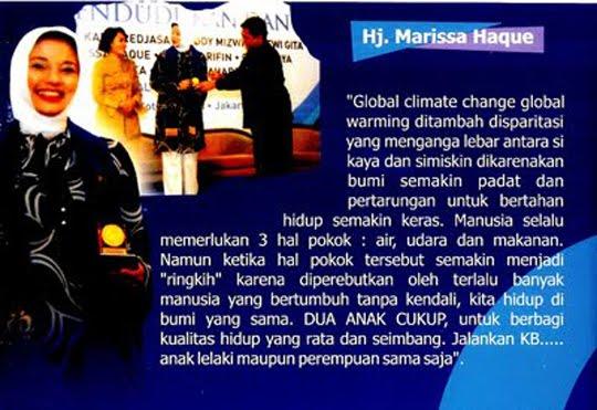 Istriku Marissa Haque Duta BKKBN