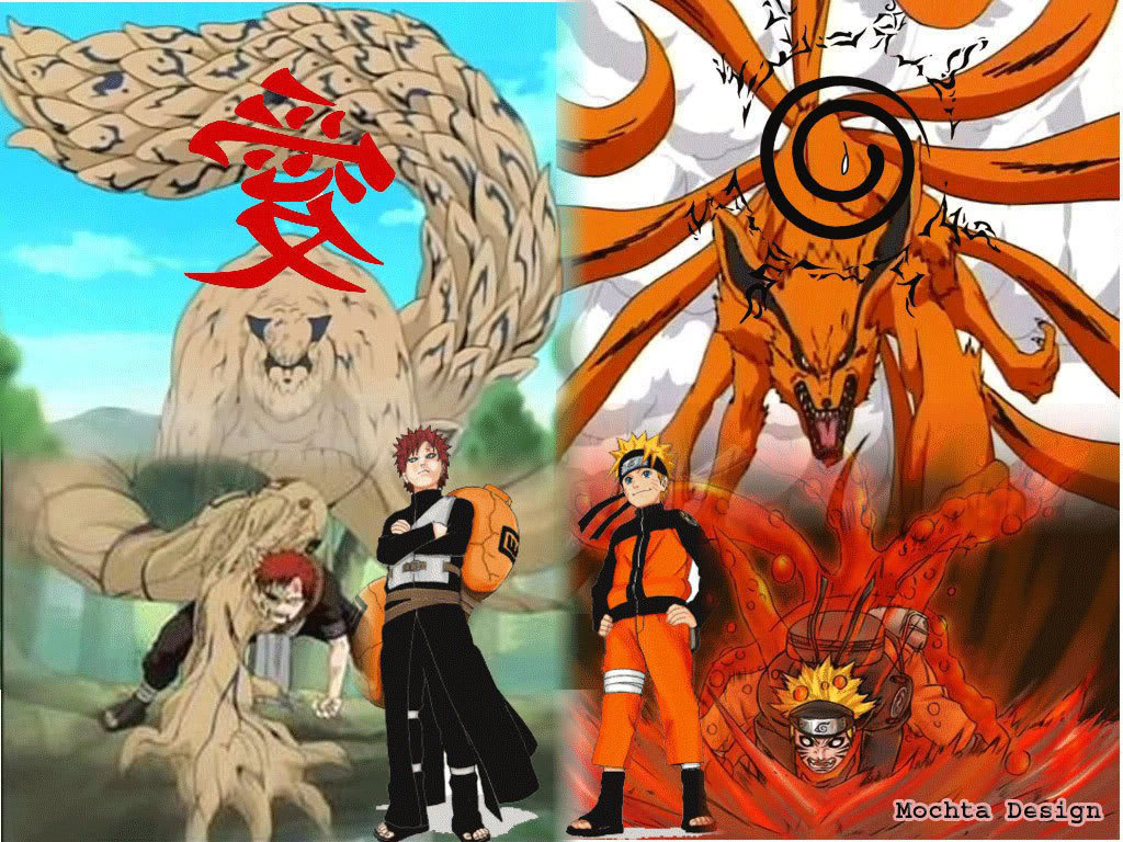 Naruto and Gaara Kyuubi Naruto Shippuden Wallpapers