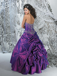 A Lovely Purple Ball Gown