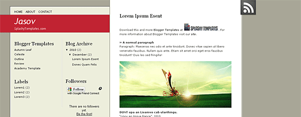 Jasov Blogger Template