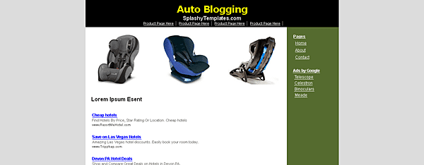 Auto Blogging Blogger Template
