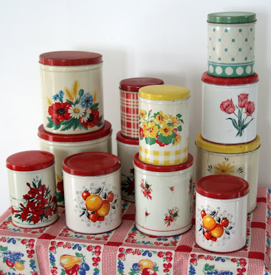 i love collecting tin kitchen canisters vintage pink tin kitchen canister set pink atomic stars
