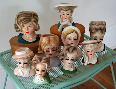 I Love Collecting Lady Head Vases