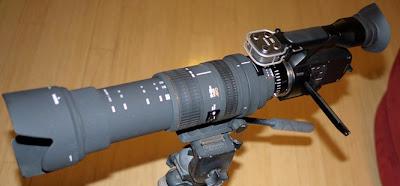 sony nex vg10 camcorder sigma bigma 50-500