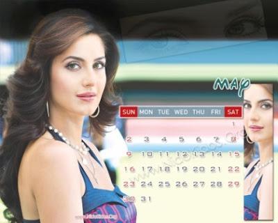 Katrina Kaif 2010 Desktop Calendar Pictures, Wallpapers