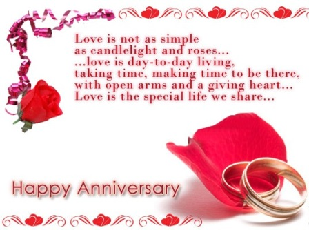 Happy Wedding Anniversary Cards Freeanniversarygreeting