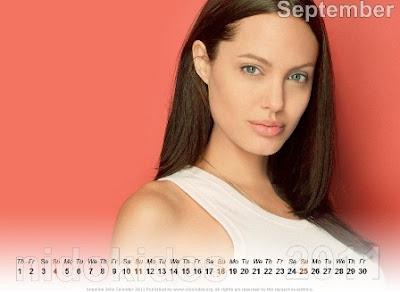 Angelina Jolie Desktop Calendar 2011