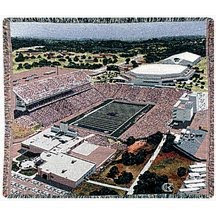 Bill Snyder K-State football stadium throw blanket.