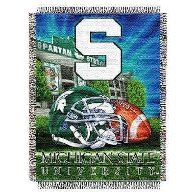 Michigan State University Spartan Stadium blanket.