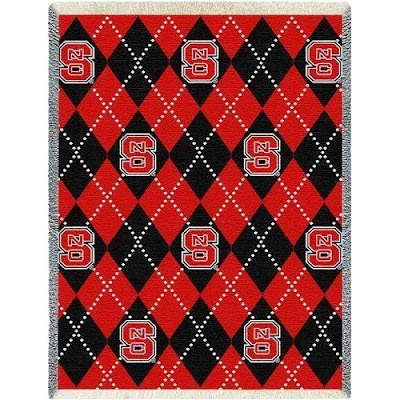North Carolina State argyle blanket.