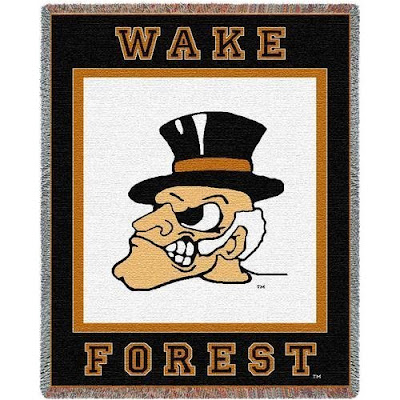 Wake Forest Demon Deacon throw blanket.