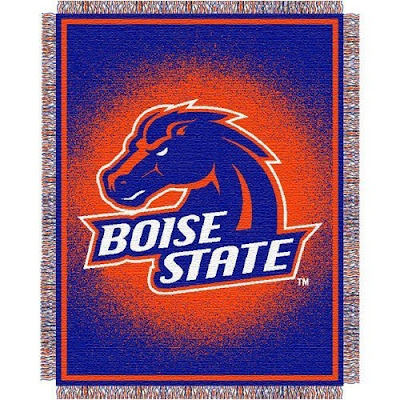 Boise State University Broncos throw blanket.
