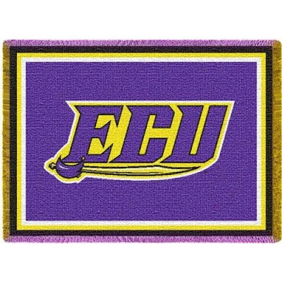 Purple ECU Pirates blanket.