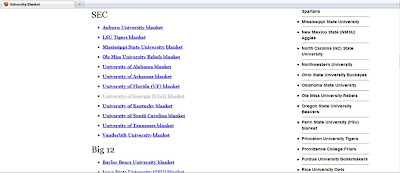 University blanket index.