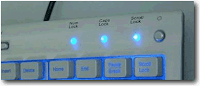 LED tastiera come indicatore traffico