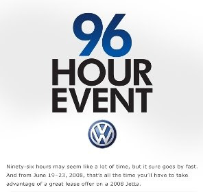 Boston Volkswagen 96 Hour Event The Clock Is Ticking