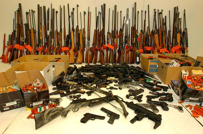Shooting The Messenger: 118 arrested and 1,300 guns seized in massive ...