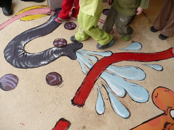 ציור רצפה מאתגר