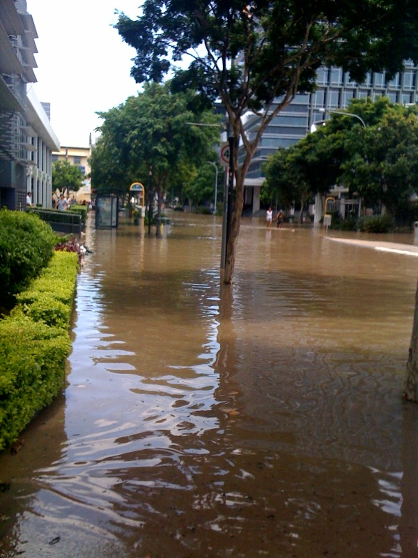 Southbank Flood Photos. Queensland flood update - West