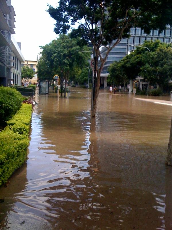 Southbank Flood Photos. Queensland flood update - West