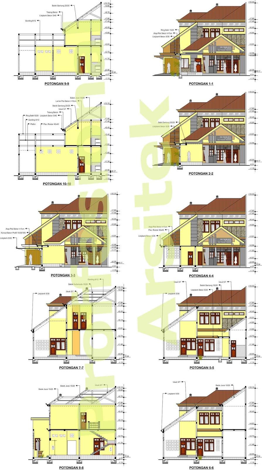 Arsitek Profesional ... Jasa Desain Gambar Rumah Minimalis ...