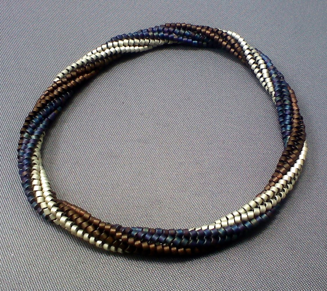 free twisted herringbone bangle tutorial the beading