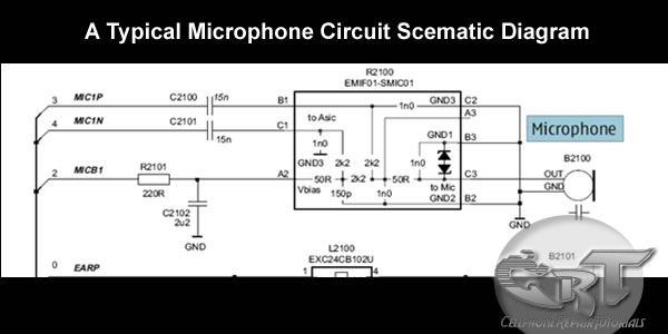understanding mouthpiece or microphone earpiece and ihf or buzzer microphone schematic diagram