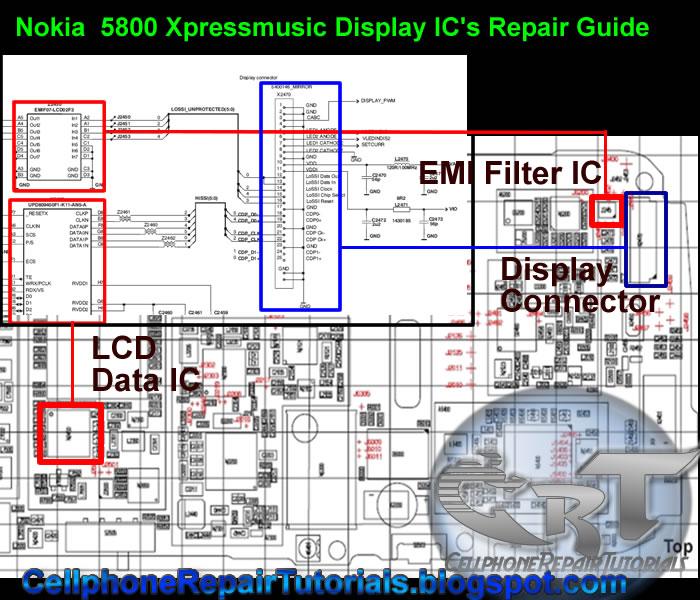 5800 xpressmusic lcd screen display problem repair procedure free rh cellphonerepairtutorials blogspot com lcd repair guide pdf free download lcd repair guide pdf